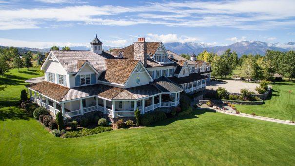 Stock Farm Estate Hamilton Montana Spokane Drone