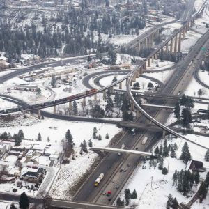Spokane Downtown Bridges Highways Trains