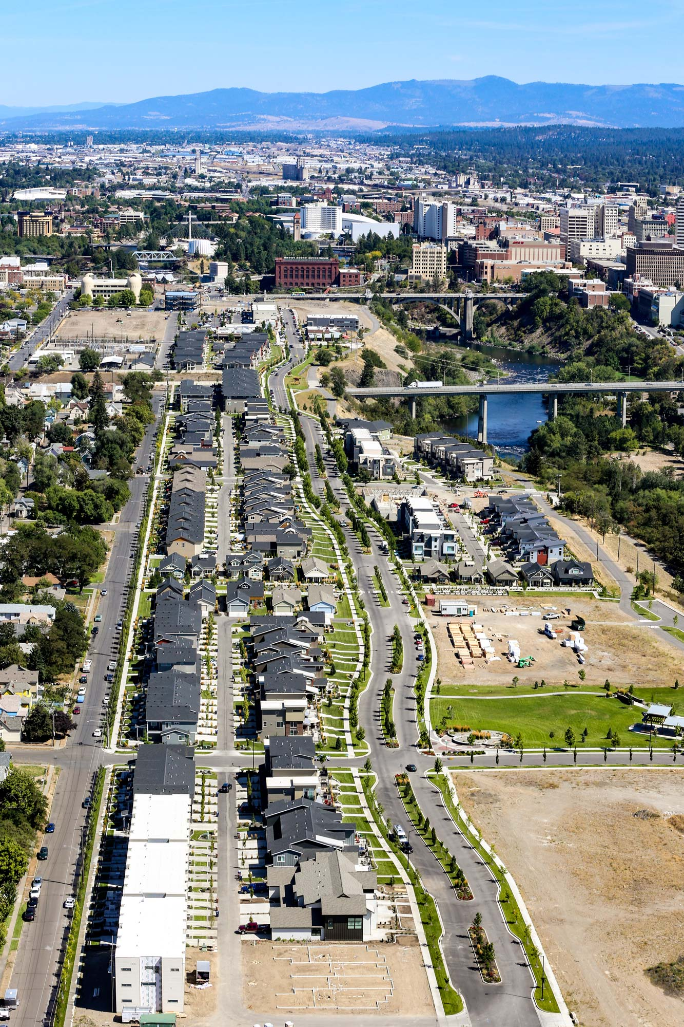 Kendall Yards Aerial Image, Spokane Downtown