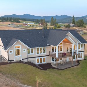 North Spokane Aerial Drone Photography Peone Landing