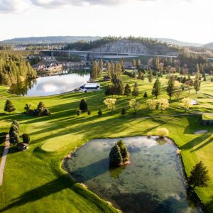 Wandermere Golf Course Aerial Drone Photography Spokane