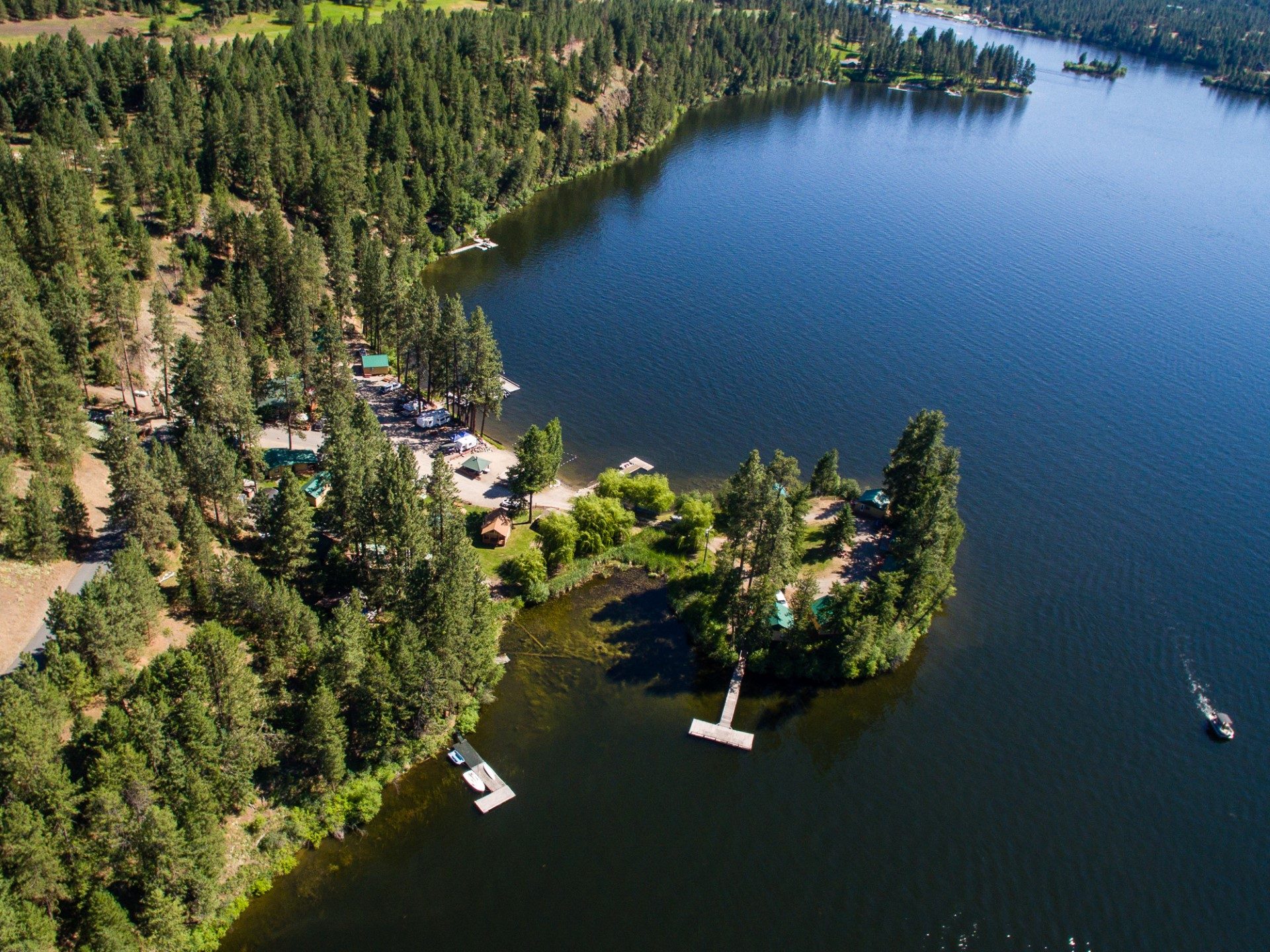 Resort Photography with Drones Washington State