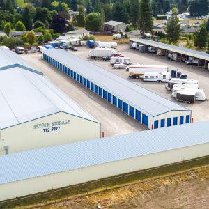 Hayden Storage North Idaho Drone Photography