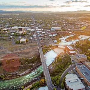 Spokane Aerial Photography - Spokane Falls & Riverfront Park