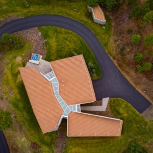 The Canyon House Colbert Washington, Architecture and Interior Design Drone Photography