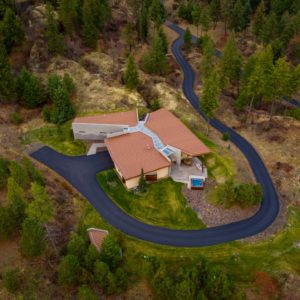 The Canyon House Chattaroy Washington, Architecture and Interior Design Drone Photography