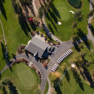 Chewelah Golf Course Drone Aerial Photo
