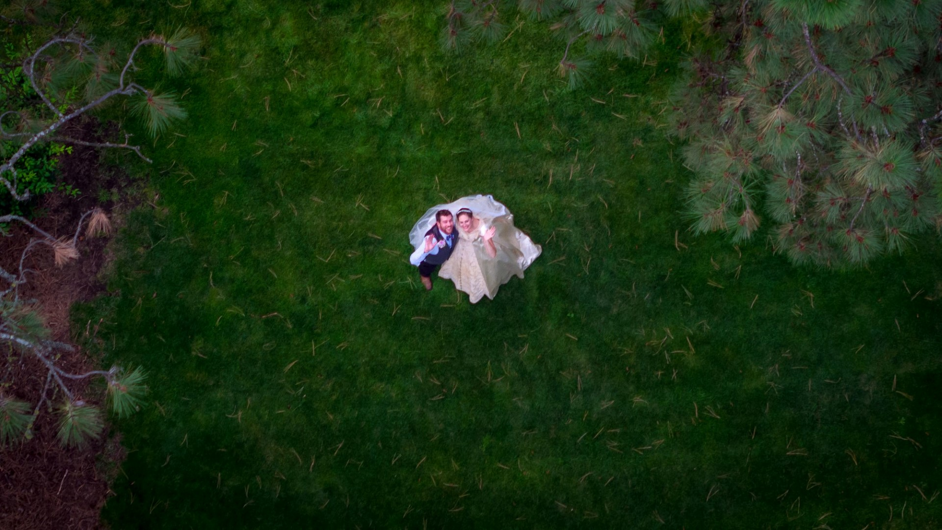 Juell Wedding Drone Photography Spokane Drone