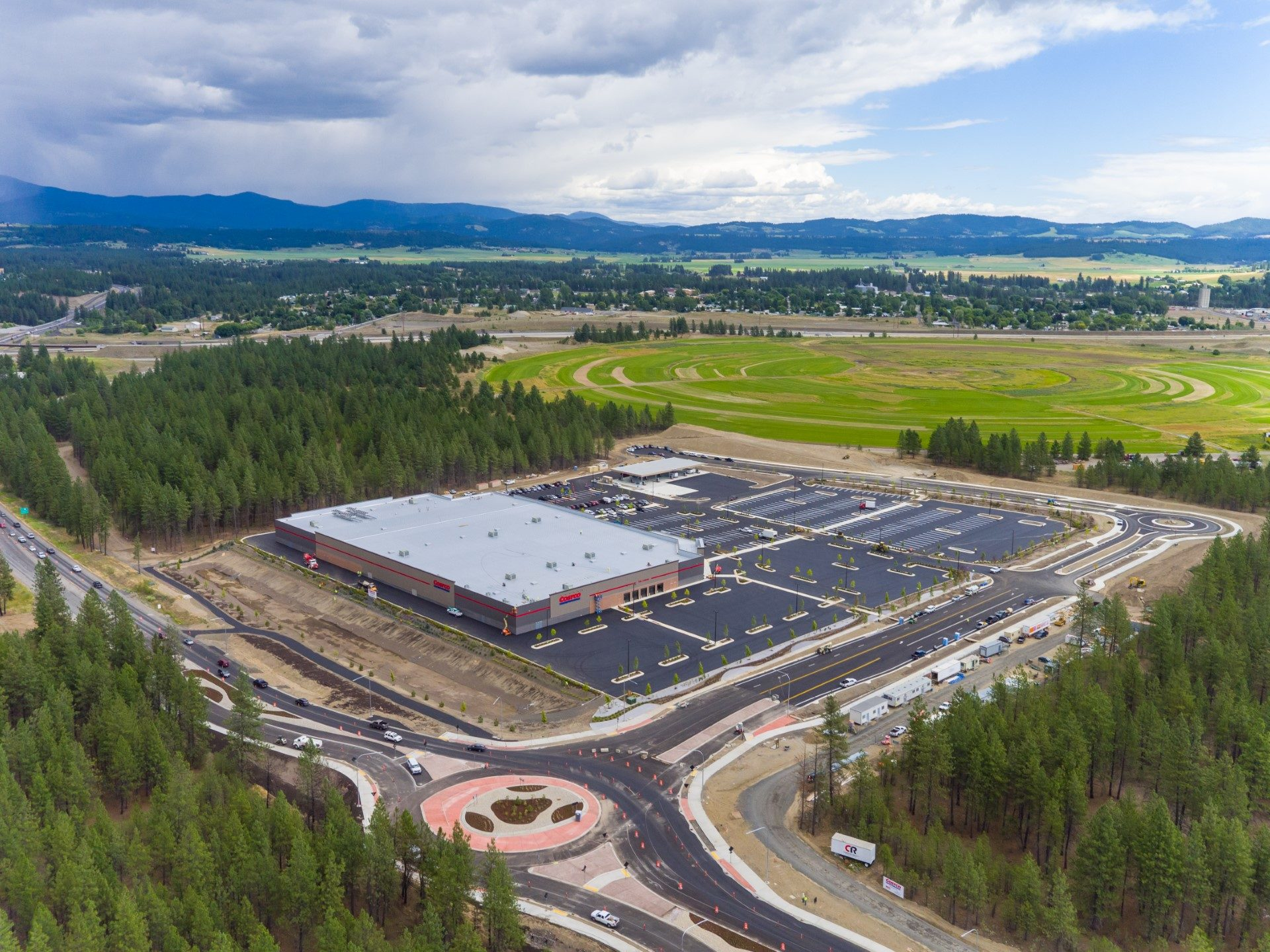Aerial Drone Construction Progress in Spokane
