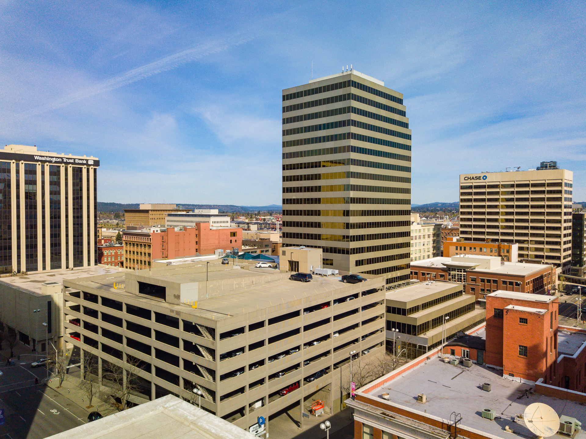 High End Commercial Real Estate Drone Photography in Spokane
