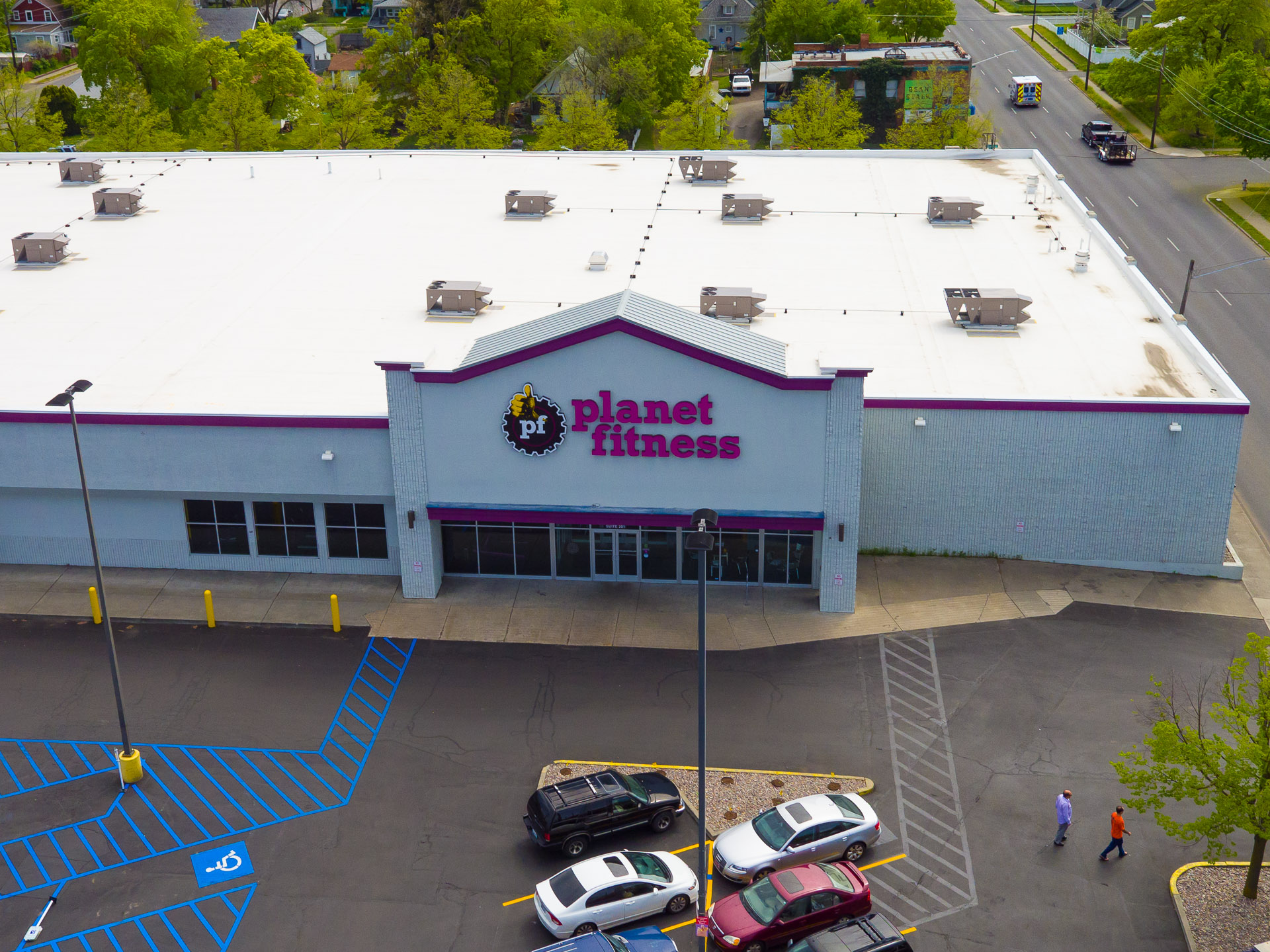 Commercial Drone Photography at Planet Fitness