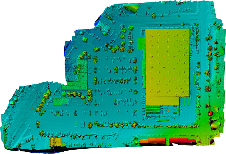 aerial elevation map photogrammetry spokane drone photography